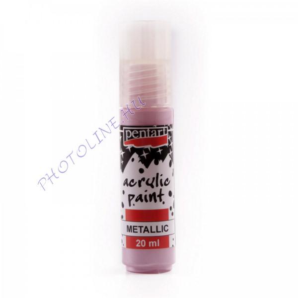 Akrilfesték 20 ml, metálfényű rózsaszín