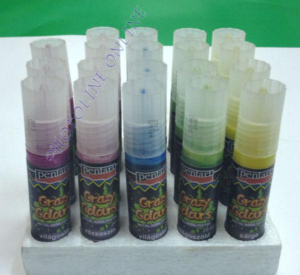 Akrilfesték 20 ml, metálfényű világoskék