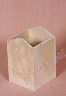 Ceruzatartó iróasztali, rétegelt, díszíthető fa