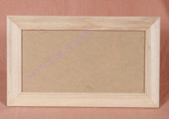 Fa képkeret, 12 x 24 cm képhez