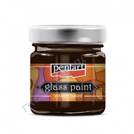 Üvegfesték (áttetsző lakk) 30 ml, barna