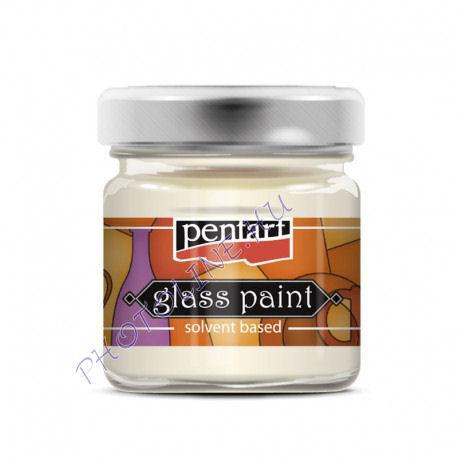 Üvegfesték (áttetsző lakk) 30 ml, fehér
