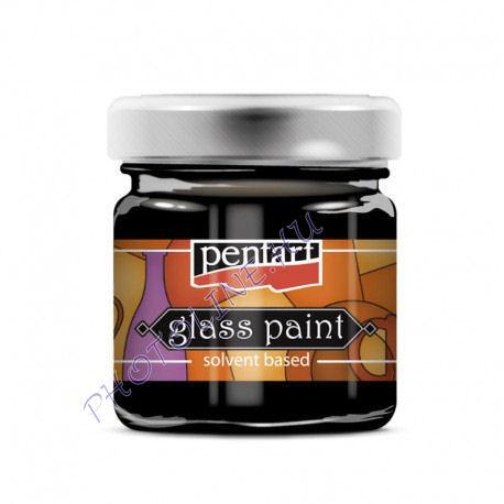 Üvegfesték (áttetsző lakk) 30 ml, fekete
