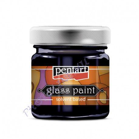 Üvegfesték (áttetsző lakk) 30 ml, kék
