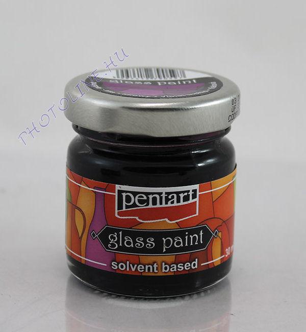 Üvegfesték (áttetsző lakk) 30 ml, lila