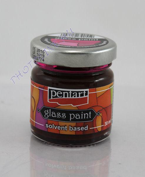 Üvegfesték (áttetsző lakk) 30 ml, magenta