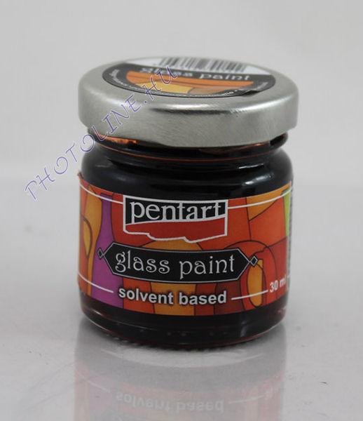 Üvegfesték (áttetsző lakk) 30 ml, narancs