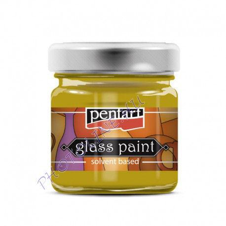 Üvegfesték (áttetsző lakk) 30 ml, sárga