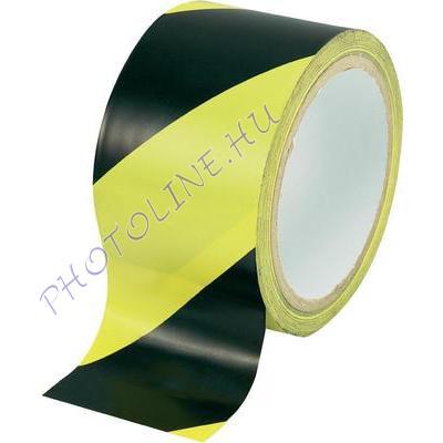 Padlójelölő ragasztószalag PVC 50x33M, AERO, fekete-sárga