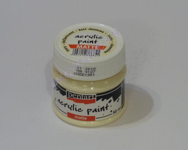 Akrilfesték matt, 50 ml, elefántcsont