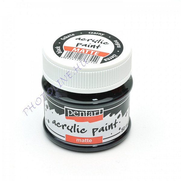 Akrilfesték matt, 50 ml, fekete