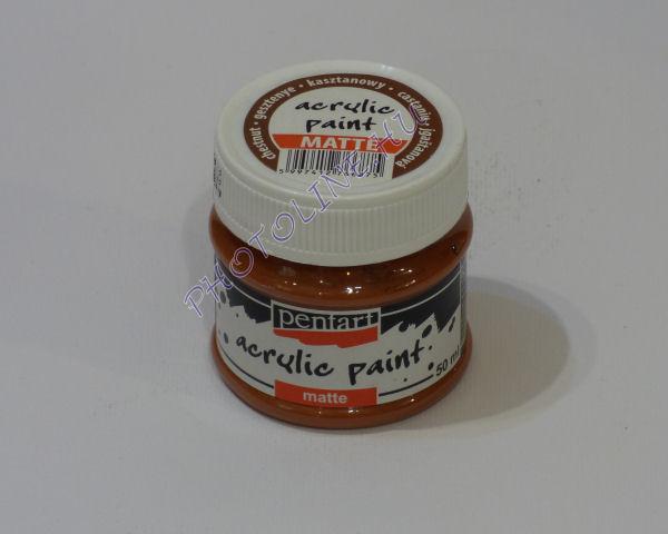 Akrilfesték matt, 50 ml, gesztenye