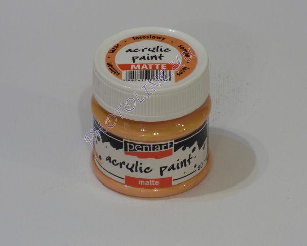 Akrilfesték matt, 50 ml, lazac