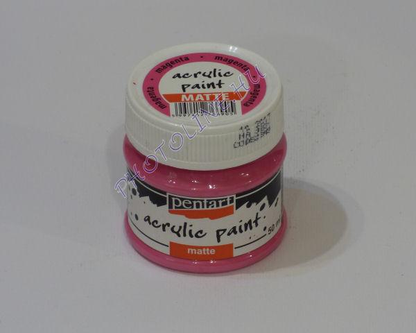 Akrilfesték matt, 50 ml, magenta