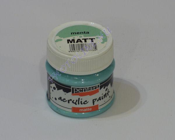 Akrilfesték matt, 50 ml, menta
