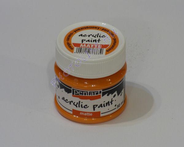 Akrilfesték matt, 50 ml, narancs