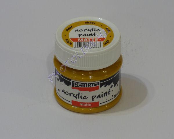 Akrilfesték matt, 50 ml, okker