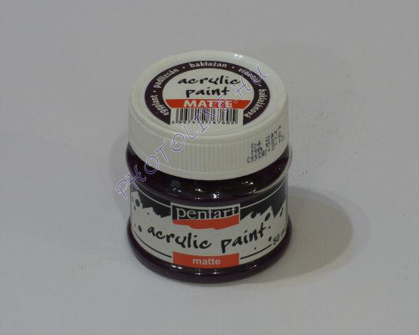 Akrilfesték matt, 50 ml, padlizsán