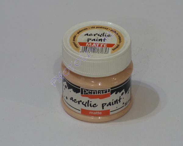 Akrilfesték matt, 50 ml, púderszín