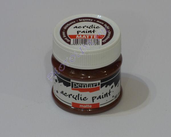 Akrilfesték matt, 50 ml, sötétbarna