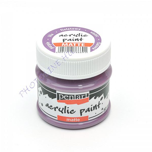 Akrilfesték matt, 50 ml, lila