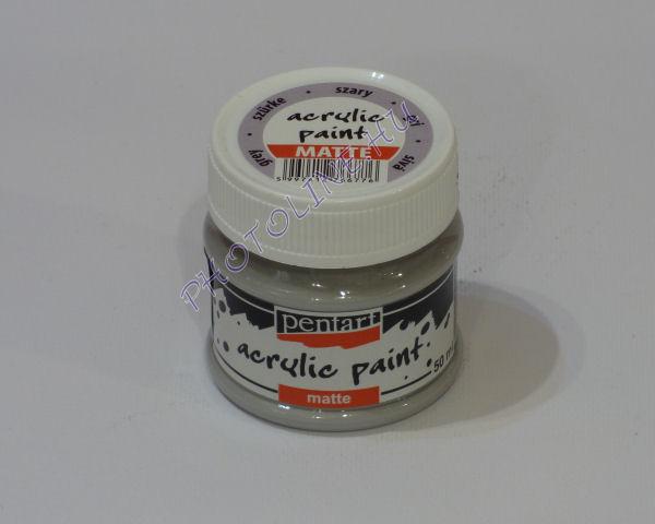 Akrilfesték matt, 50 ml, szürke