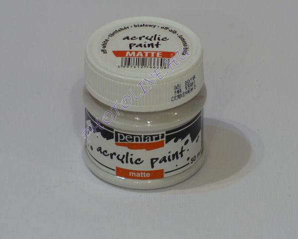 Akrilfesték matt, 50 ml, törtfehér