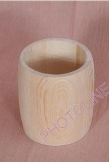Ceruzatartó hordó, díszíthető natúr fa tárgy