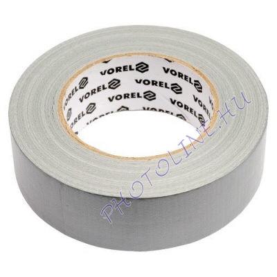 Textiles ragasztószalag 38MM x 50M, szürke, PE DUCT TAPE