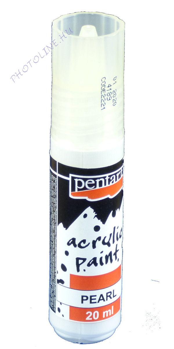 Gyöngyház akril festék 20 ml, fehér