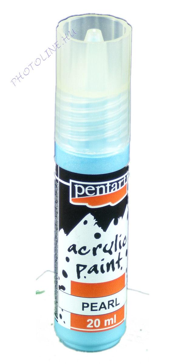Gyöngyház akril festék 20 ml, kék