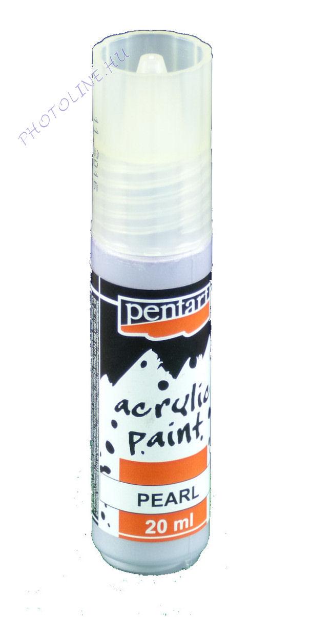 Gyöngyház akril festék 20 ml, lila