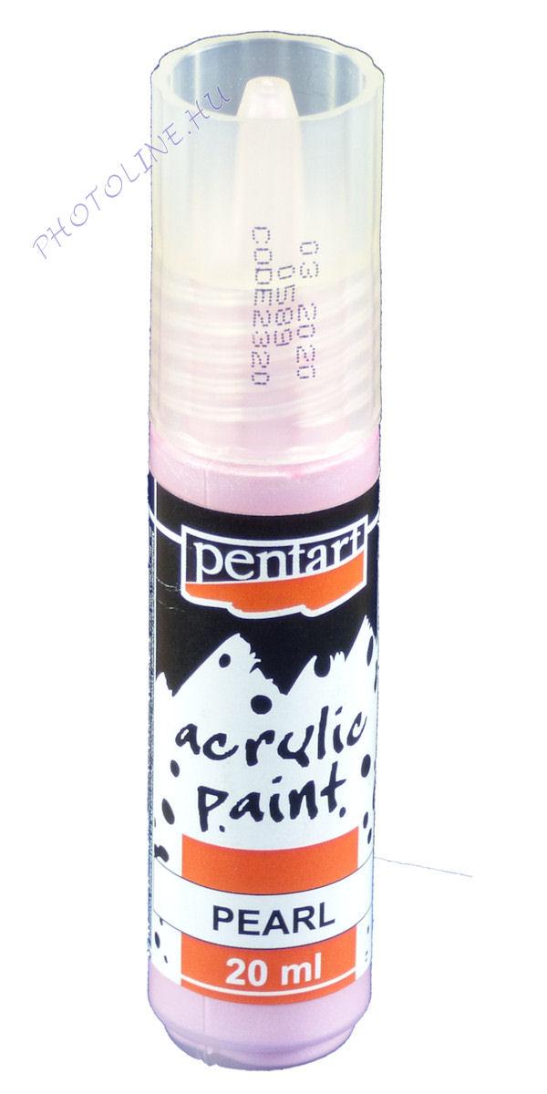 Gyöngyház akril festék 20 ml, rózsaszín