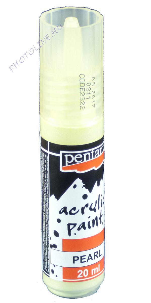 Gyöngyház akril festék 20 ml, sárga