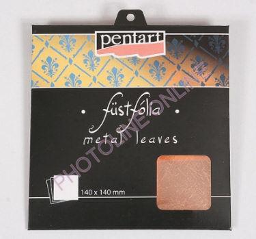 Füstfólia, 14x14 cm, 5 lap/csomag, égetett, arany-kék-ezüst