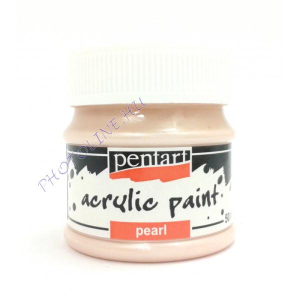 Gyöngyház akril festék 50 ml, barack