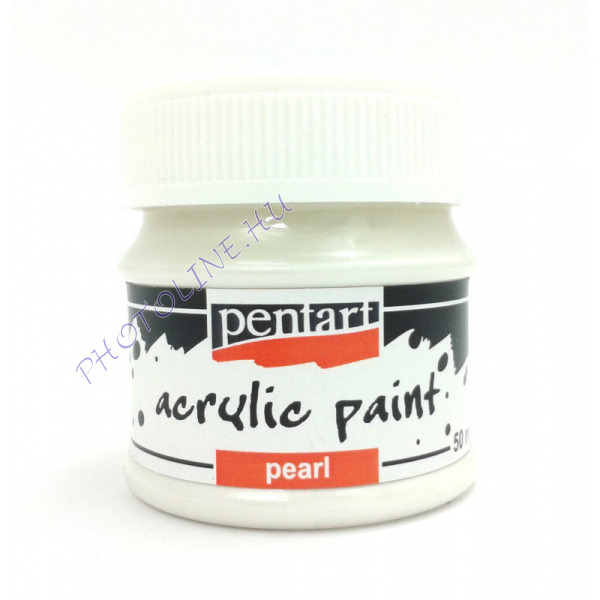 Gyöngyház akril festék 50 ml, fehér