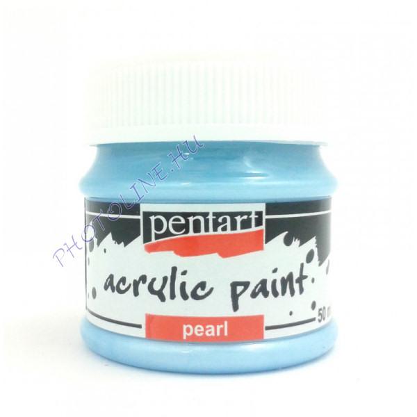Gyöngyház akril festék 50 ml, kék