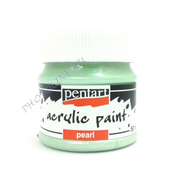 Gyöngyház akril festék 50 ml, zöld