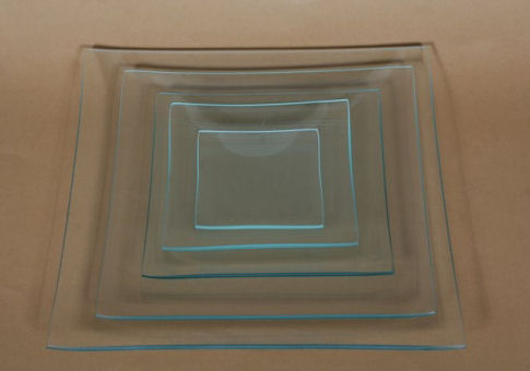 Üvegtál négyzetes 25X25 CM