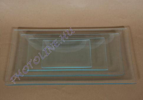 Üvegtál téglalap 22X40 CM
