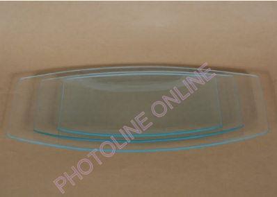 Üvegtál hajlított szögletes  40X20 CM