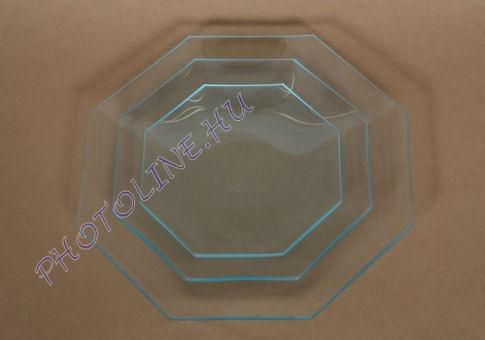 Üvegtál nyolcszögletű 23 CM