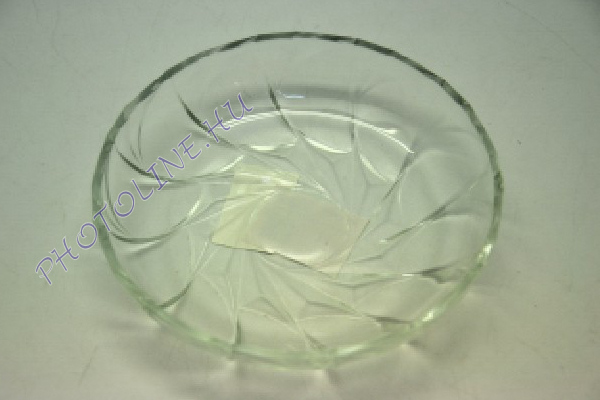 Üvegtányér spirál mintával, 15 CM