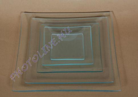 Üvegtál négyzetes 30X30 CM