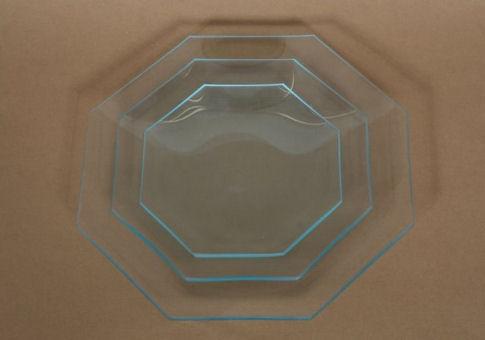 Üvegtál nyolcszögletű 18 CM