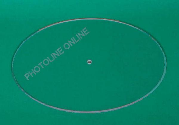 Óralap üvegből, ovális, 27x22 cm méretű