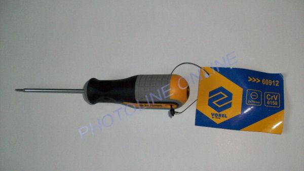 Csavarhúzó műszerész ergonóm, lapos 2x75 mm