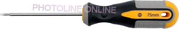 Csavarhúzó műszerész ergonóm, lapos 3x75 mm