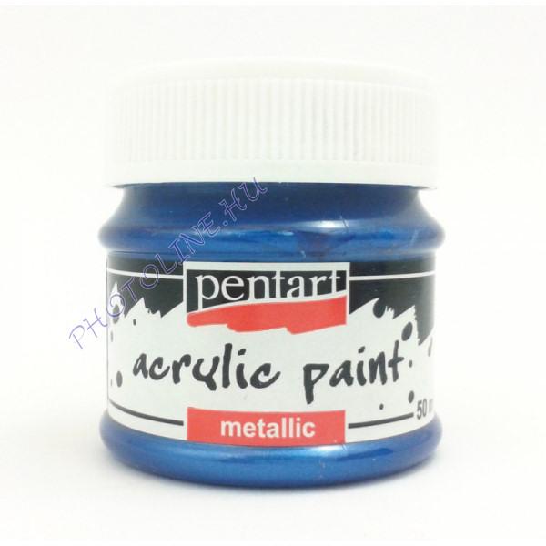 Metál hobbi és makettező akrilfesték 50 ml, kék